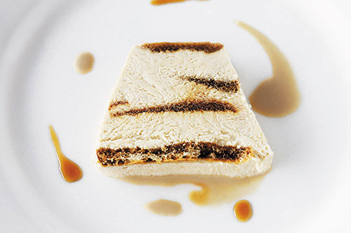... layered honey cake roll with honey semifreddo recipes dishmaps